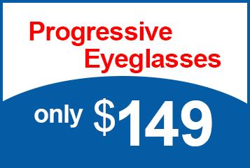 Progressive Eyeglasses only $149